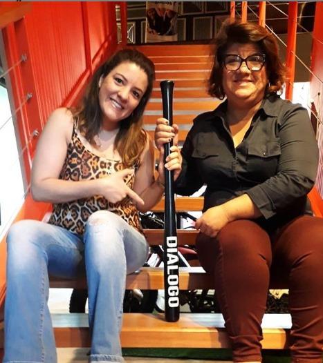 Socias Cintia Crepaldi esq. e Ana Crepaldi dir.
